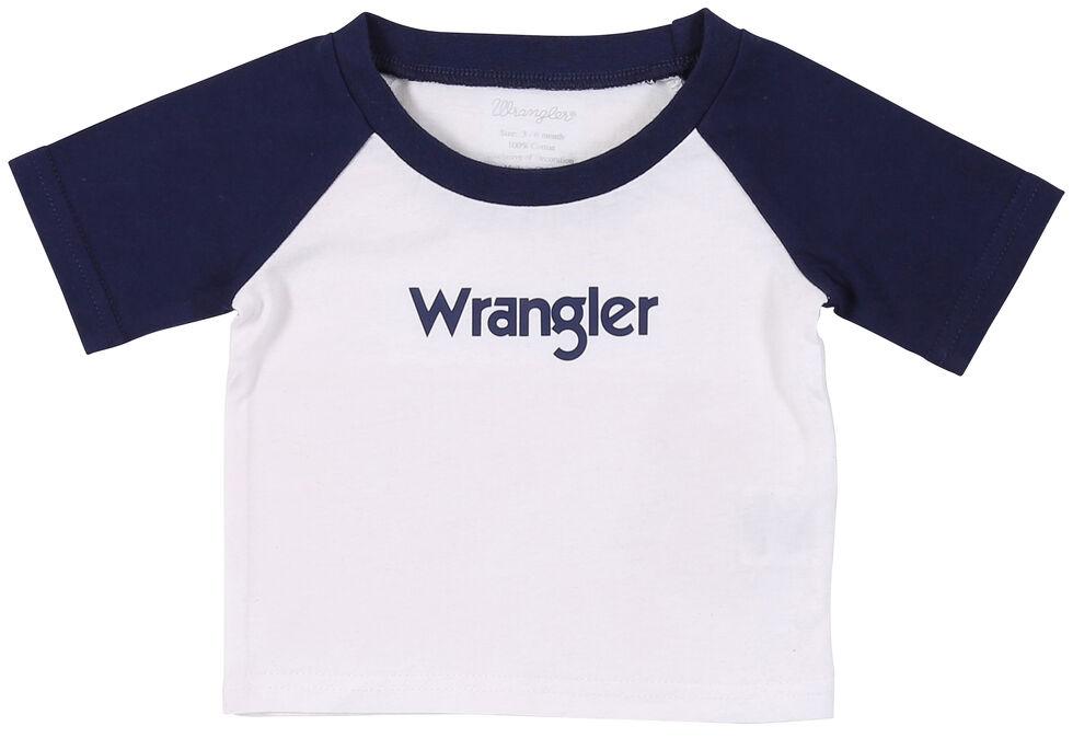 Wrangler Toddler Boys' White Baseball Logo Tee, , hi-res