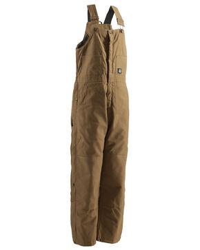 Berne Brown Duck Deluxe Insulated Bib Overalls - Big, Brown, hi-res