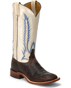 Tony Lama Women's Iron Shiloh San Saba Western Boots - Square Toe , Dark Brown, hi-res