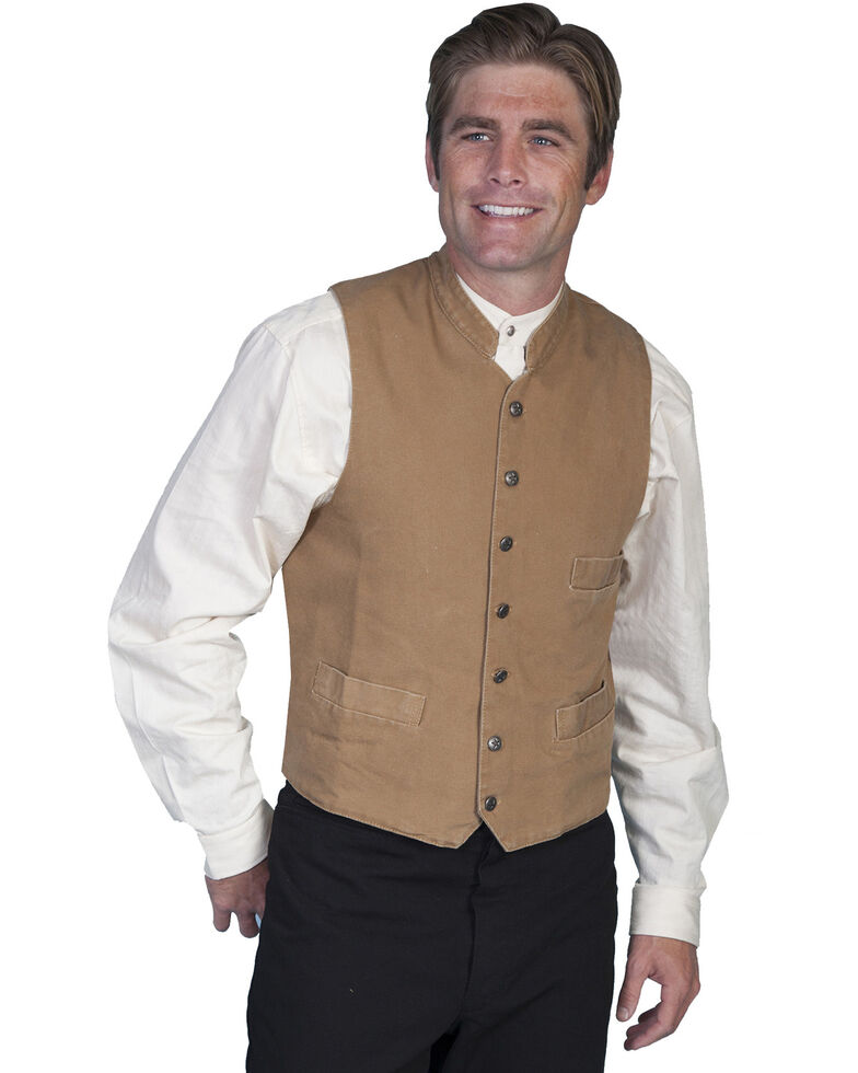 Rangewear by Scully Standup Round Collar Vest, Brown, hi-res