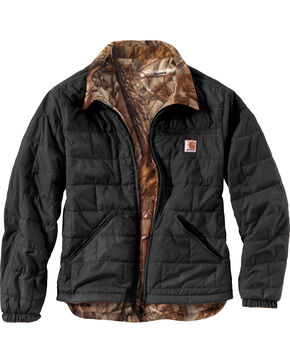 Carhartt Men's Reversible Woodsville Jacket - Big & Tall  , Black, hi-res