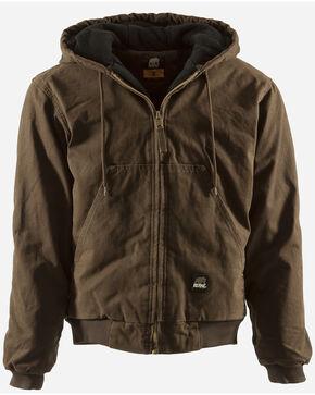 Berne Original Washed Hooded Jacket - Quilt Lined, Bark, hi-res