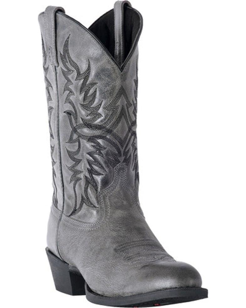 9b16547b7368a Zoomed Image Laredo Men's Harding Grey Waxy Leather Cowboy Boots - Medium  Toe, Grey, hi-
