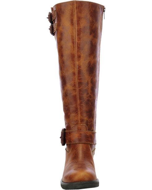 Corral Circle G Tall Engineer Cowgirl Boots - Round Toe, Cognac, hi-res