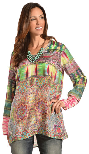 Johnny Was Women's Scoopneck Tunic, Print, hi-res