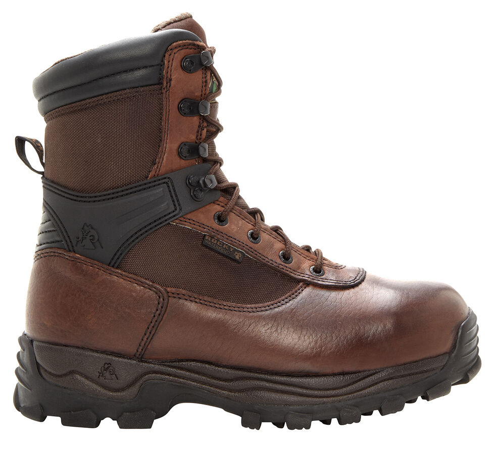 Rocky Sport Utility Pro Waterproof Work Boots - Steel Toe, Brown, hi-res