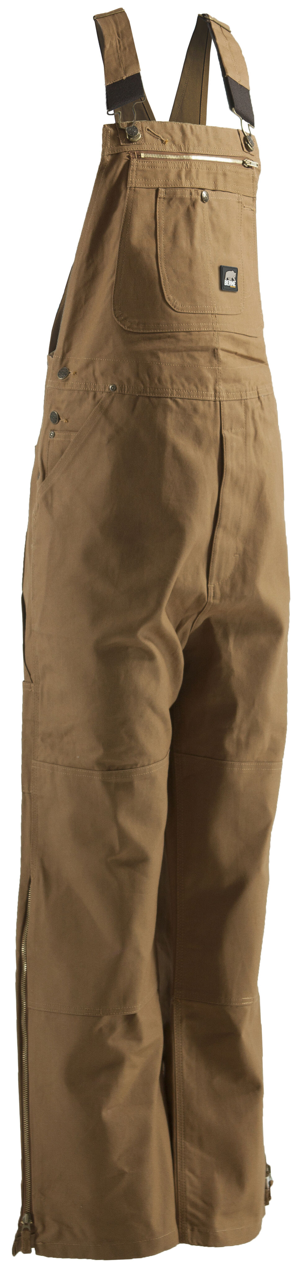 Berne Men's Original Unlined Duck Bib Overalls - BigX, Brown, hi-res