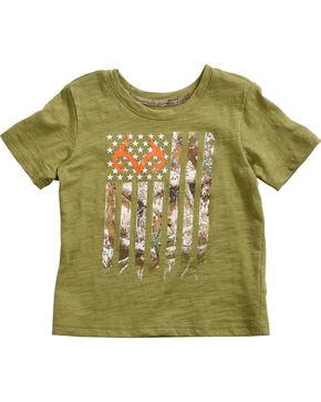 Realtree Toddler Boys' Camo Flag T-Shirt, Green, hi-res