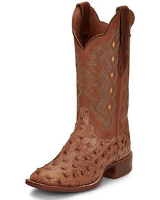 Justin Women's Magnolia Brandy Western Boots - Narrow Square Toe, Brown, hi-res