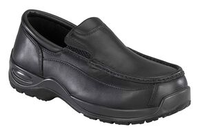 Florsheim Men's Ace Composite Toe Slip-On Shoes, Black, hi-res