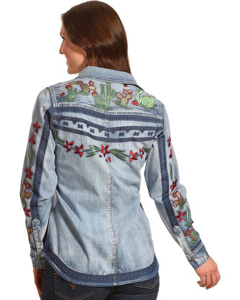 Tasha Polizzi Women's Indigo Cactus Shirt , Indigo, hi-res