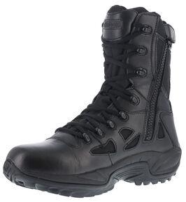 "Reebok Women's Rapid Response 8"" Work Boots - Round Toe, Black, hi-res"