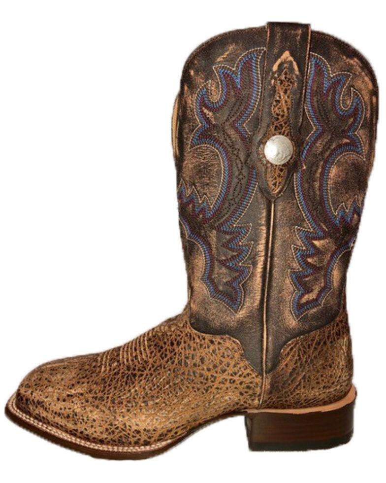 El Dorado Men's Brandy Bison Western Boots - Wide Square Toe, Brown, hi-res