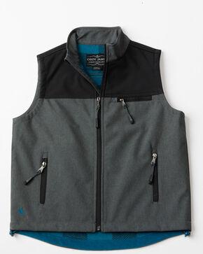 Cody James Boys' Rightwood Bonded Zip-Up Vest, Black, hi-res