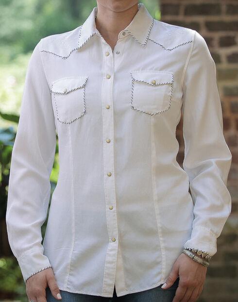 Ryan Michael Women's White Whip Stitch 152 Shirt , White, hi-res