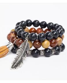 Idyllwind Women's Fringe Tassel Beaded 3 Bracelet Stack, Multi, hi-res