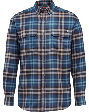 Wolverine Men's Blue Escape Plaid Flannel Shirt, Blue, hi-res