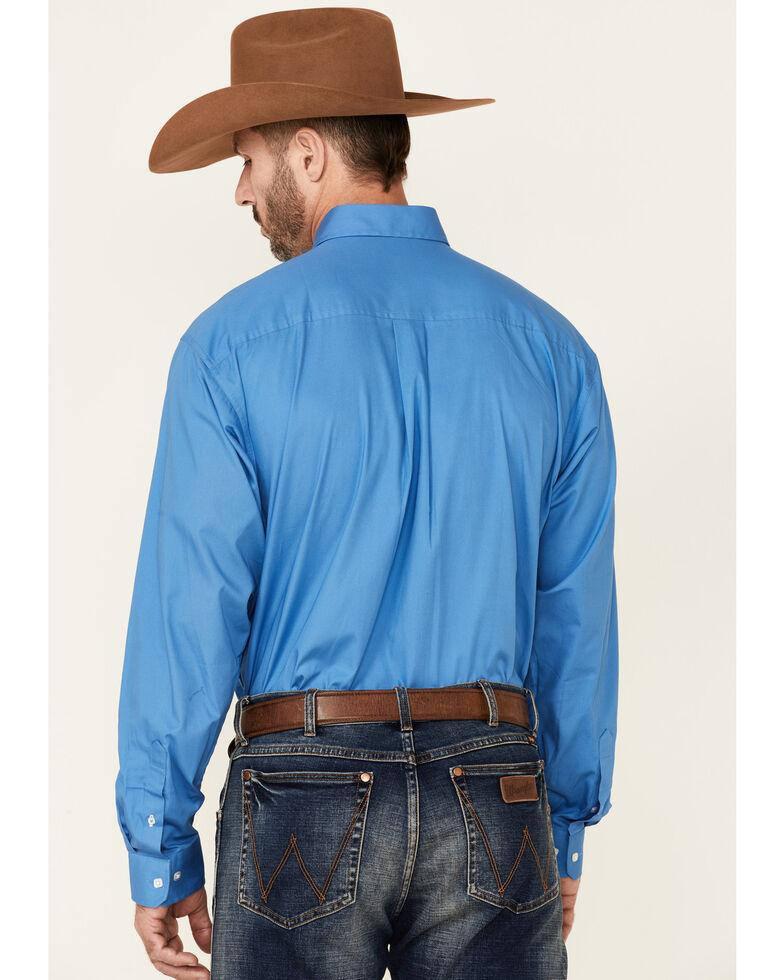 Cinch Men's Solid Blue Button-Down Western Shirt, Blue, hi-res
