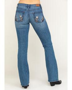 Shyanne Women's Light Wash Floral Bootcut Jeans, Blue, hi-res