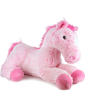 "Aurora Pink Hair Don't Care 16"" Flopsy Horse, Pink, hi-res"