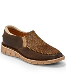 Tony Lama Women's Magdalena Mocha Shoes - Moc Toe, Brown, hi-res