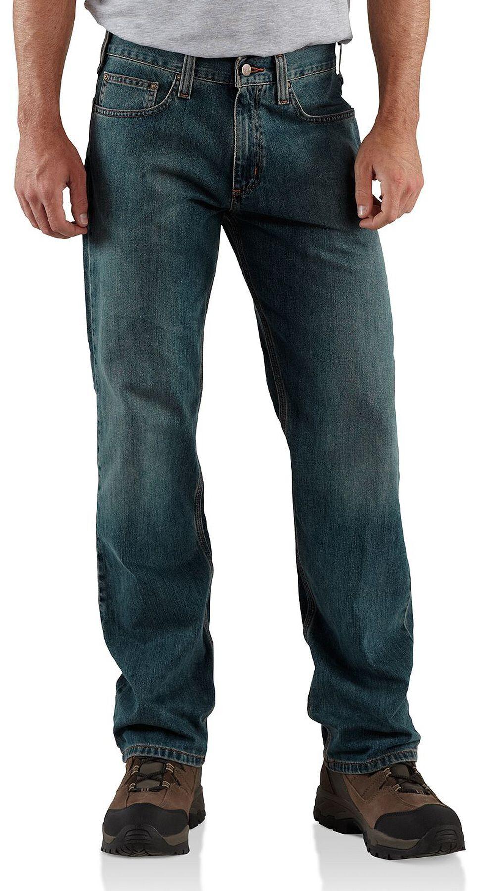 Carhartt Relaxed Straight Leg Jeans, Dark Blue, hi-res