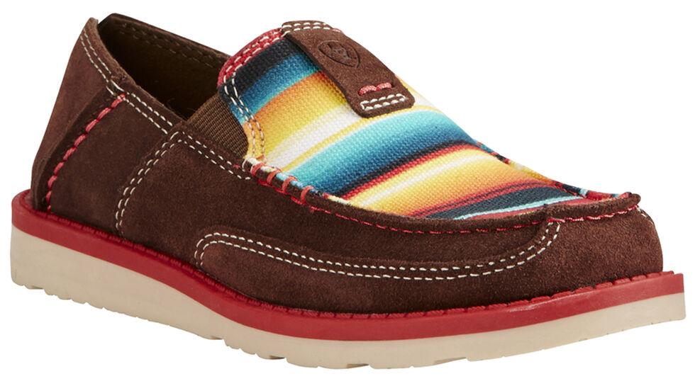 Ariat Kid's Brown Cruiser Shoes - Moc Toe, Brown, hi-res