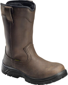 Avenger Men's Waterproof Wellington Work Boots - Round Toe, Brown, hi-res