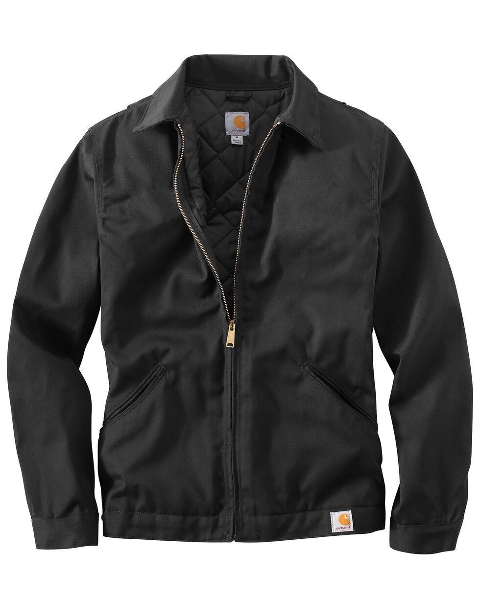 Carhartt Midweight Quilt-Lined Twill Work Jacket - Big & Tall, Black, hi-res