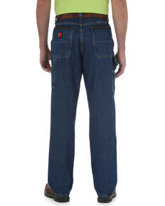 Wrangler Jeans Men's Riggs Workwear Relaxed Fit Utility Jeans - Big , Navy, hi-res
