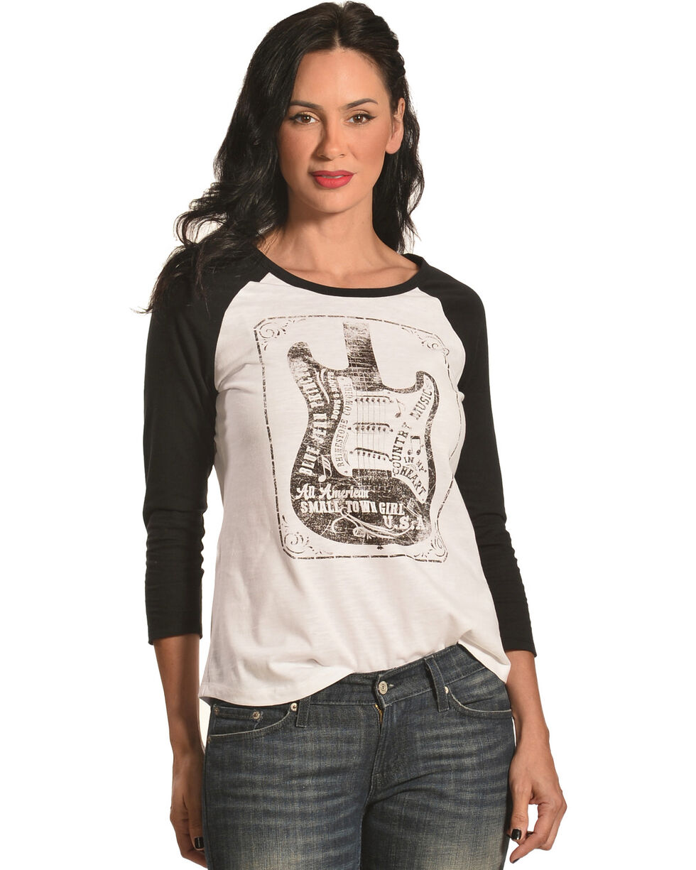 Shyanne Women's Country Music Long Sleeve Tee, Ivory, hi-res