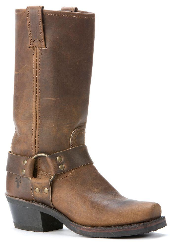Frye  Women's Harness Boots - Square Toe, Tan, hi-res