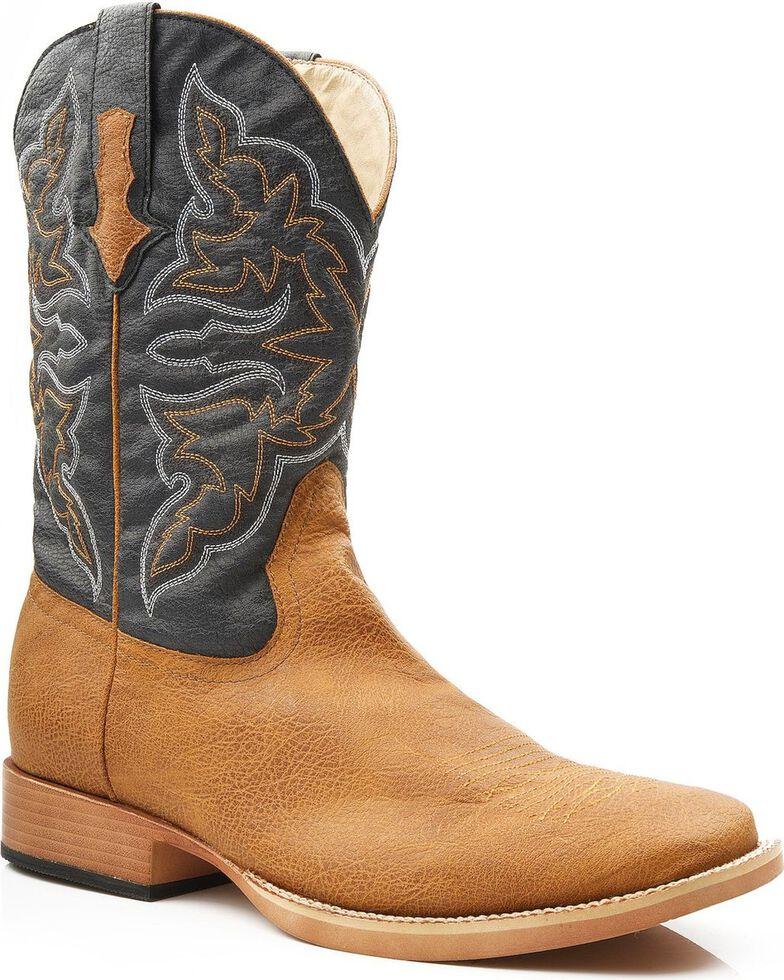 7e8257bb84b Roper Men s Faux Leather Cowboy Boots - Square Toe