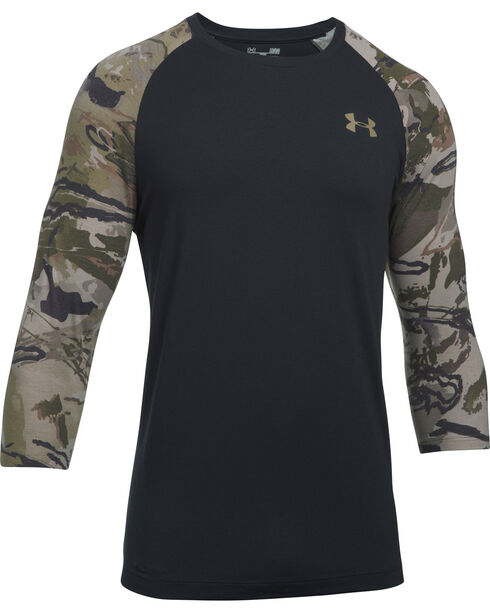 Under Armour Men's Ridge Reaper 3/4 Sleeve Tee , Black, hi-res