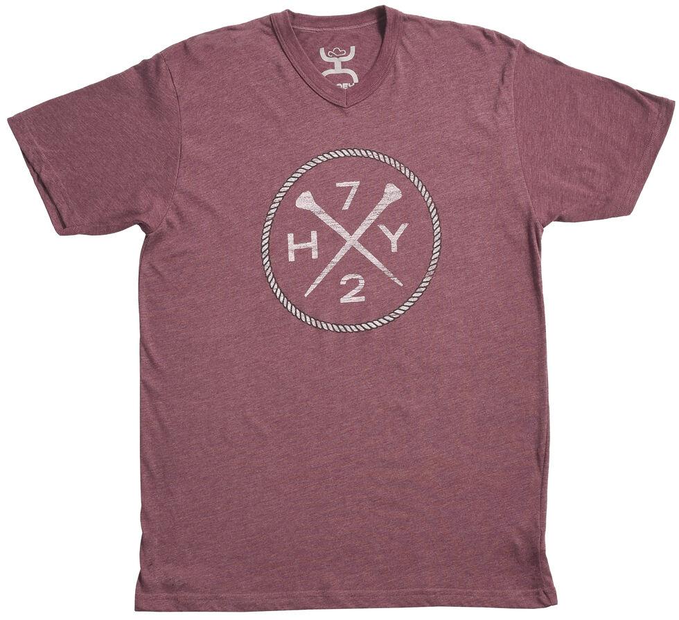 Hooey Men's Purple HY72 V-Neck T-Shirt , , hi-res
