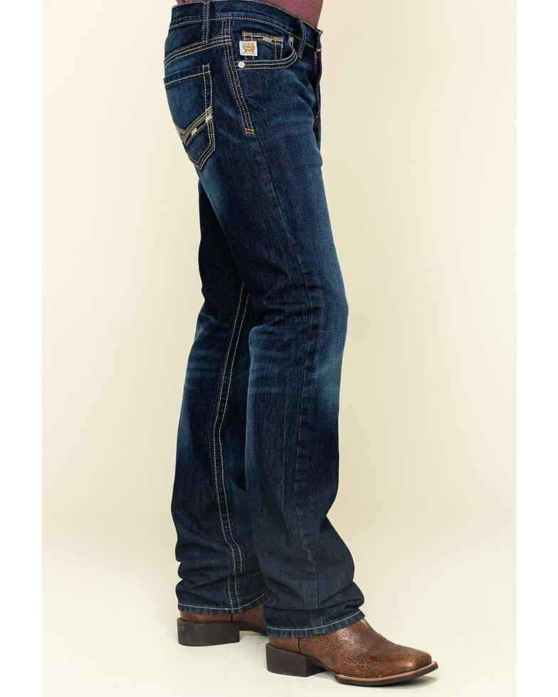Cinch Men's Ian Rinse Dark Rigid Slim Bootcut Jeans , Indigo, hi-res