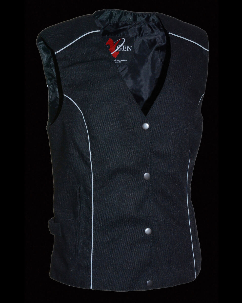 Milwaukee Leather Women's Stud & Wing Embroidered Vest - 4X , , hi-res