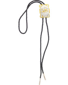 Cody James Men's Horse and Cross Bolo Tie, Silver, hi-res
