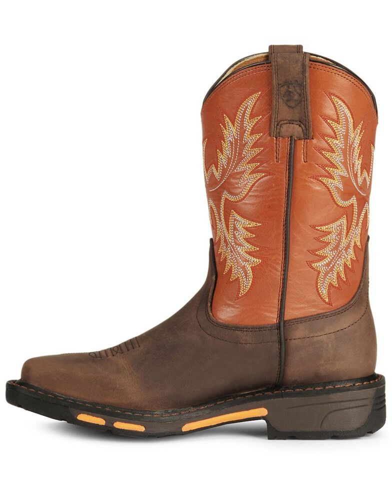 Ariat Boys' Earth Workhog Cowboy Boots, Earth, hi-res