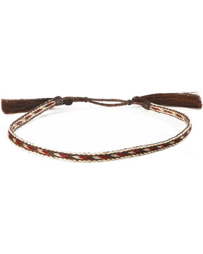 Cody James Men's Brown & Red Braided Horsehair Hat Band , Red/brown, hi-res