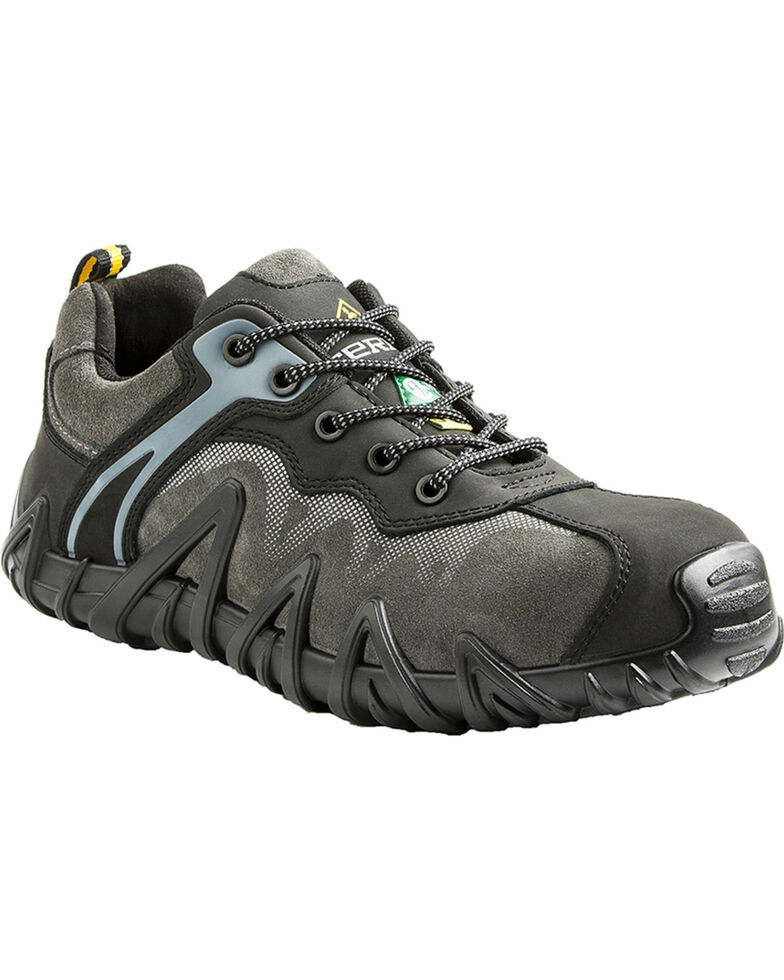 Terra Men's Black Venom Low Work Shoes - Composite Toe, Black, hi-res