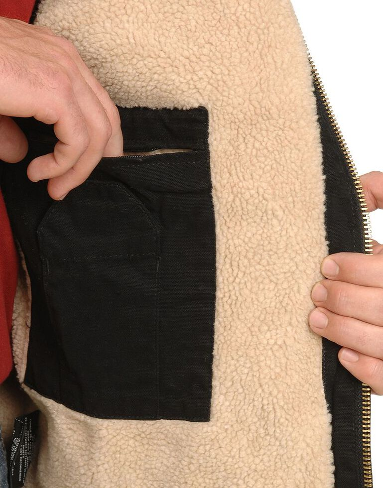 Dickies Sanded Duck Sherpa Lined Jacket - Big & Tall, Black, hi-res