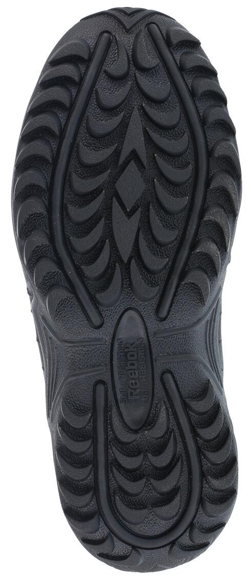 "Reebok Men's Stealth 6"" Lace-Up Water Resistant Side Zip Work Boots, Black, hi-res"