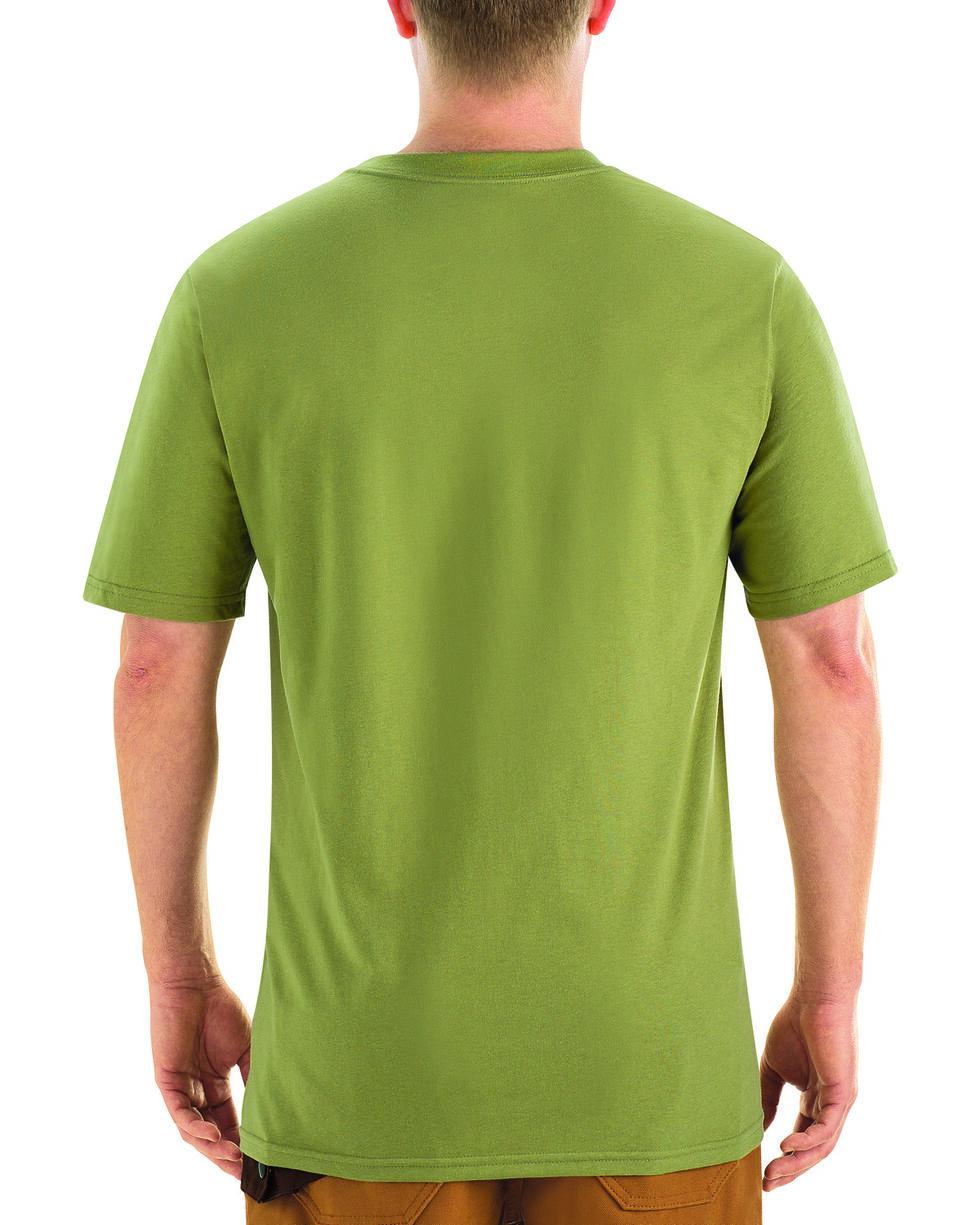 Red Kap Men's Moss Green Solid T-Shirt , , hi-res