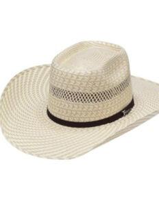 Twister Men's 20X Ivory Tan Shantung Straw Western Hat , Natural, hi-res