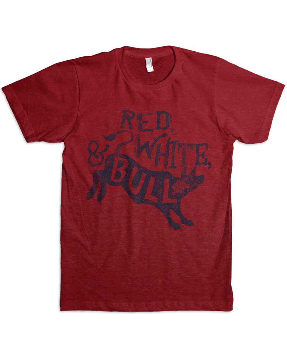 Dale Brisby Men's Red, White, & Bull Shirt , Red, hi-res