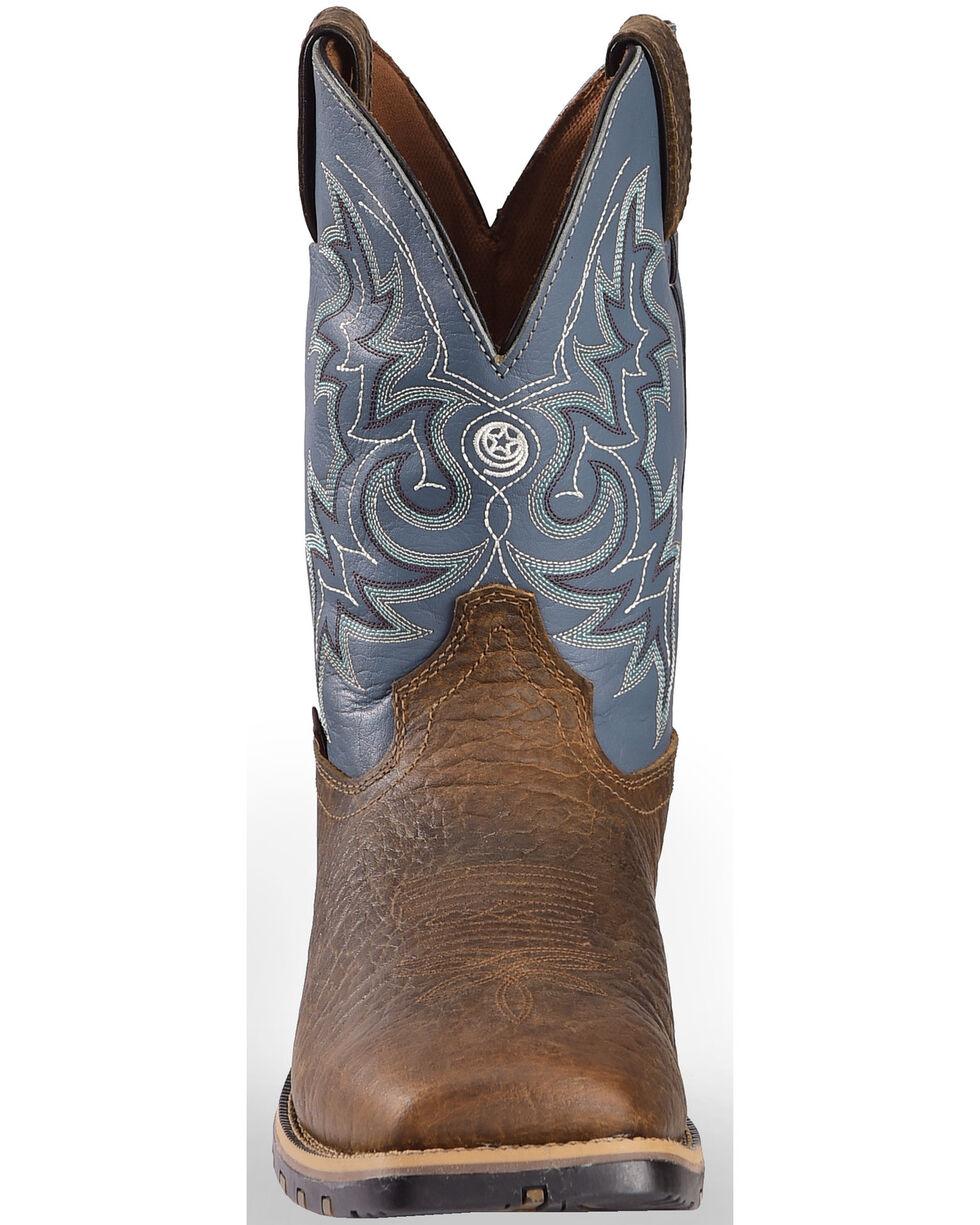 Justin Men's Chocolate Fireman Waterproof Boots - Square Toe , Chocolate, hi-res