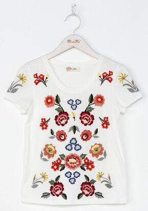 Miss Me Girls' Mystic Garden Top , White, hi-res