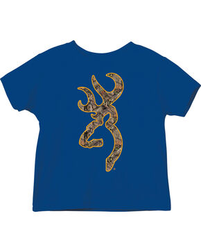 Browning Toddler Boys' Blue Mossy Oak Country Buckmark Tee , Royal Blue, hi-res