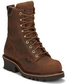 Chippewa Men's Valdor Heavy Duty Waterproof Logger Boots - Composite Toe, Brown, hi-res
